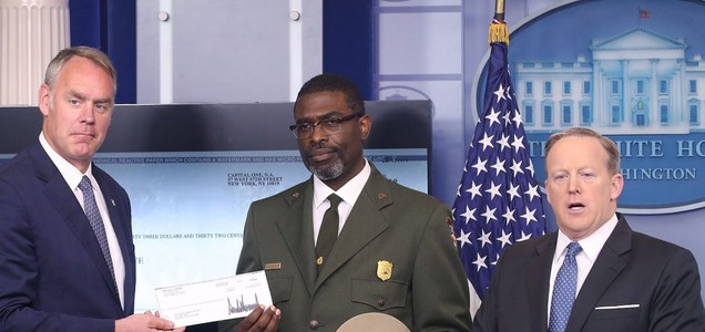 Trump donated his salary to National Parks Service
